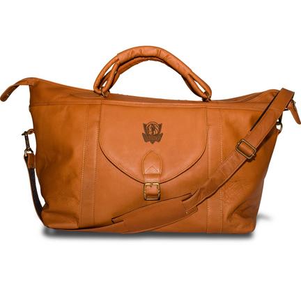 Dallas Mavericks Pangea Tan Leather Top Zip Travel Bag