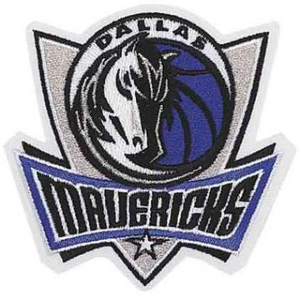 Dallas Mavericks NBA Logo Patch