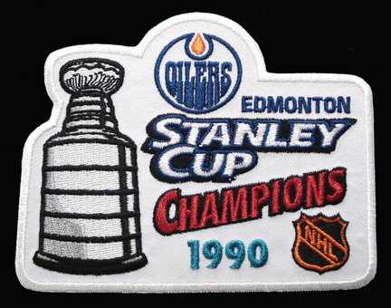 Edmonton Oilers 1990 NHL Stanley Cup Champions Patch SMG-PATCHHKYEDMSC90