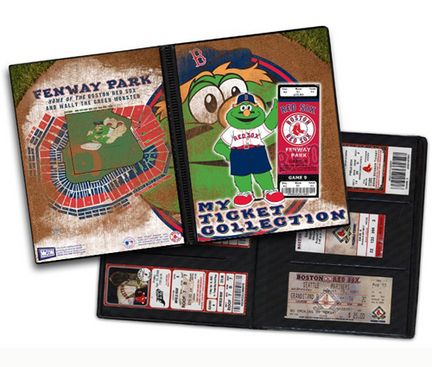 Boston Red Sox Mascot Ticket Album (Holds 96 Tickets)