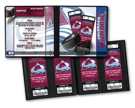 Colorado Avalanche Ticket Album (Holds 96 Tickets)