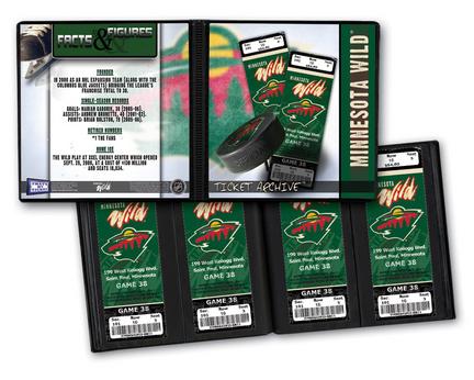 Minnesota Wild Ticket Album (Holds 96 Tickets)