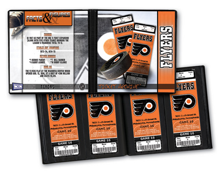 Philadelphia Flyers Ticket Album (Holds 96 Tickets)
