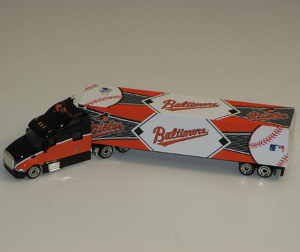 Image of Baltimore Orioles 2010 MLB 1:80 Scale Tractor Trailer