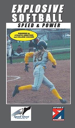 Explosive Softball - Speed and Power  Softball Training Video (VHS)