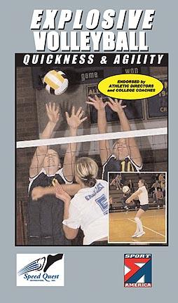 Explosive Volleyball - Quickness and Agility Volleyball Training Video (VHS)