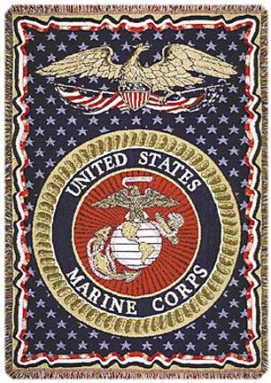 """United States Marines 50"""" x 70"""" Three Layer Throw Blanket From Simply Home"""