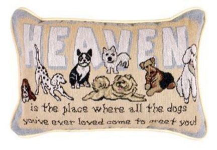 """Heaven Is The Place 9"""" x 12"""" Tapestry Word Pillow From Simply Home"""