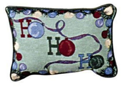 """Ho Ho Ho 9"""" x 12"""" Holiday Tapestry Pillow From Simply Home"""