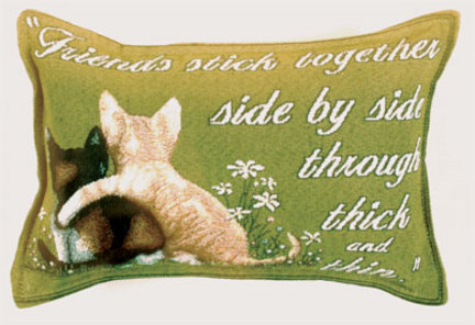 """Friends Stick Together 9"""" x 12"""" Tapestry Word Pillow From Simply Home"""
