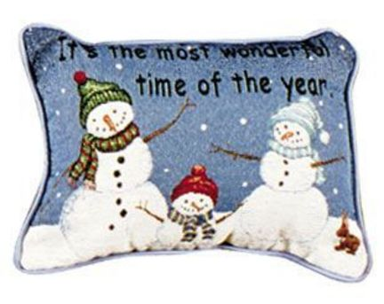 """It's The Most Wonderful Time 9"""" x 12"""" Holiday Tapestry Pillow From Simply Home"""