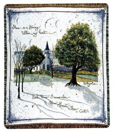 """How Great Thou Art 50"""" x 60"""" Tapestry Throw Blanket From Simply Home"""