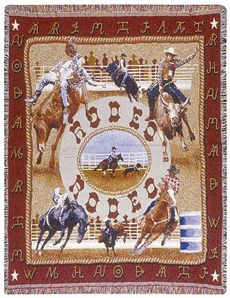 """Rodeo 50"""" x 60"""" Tapestry Throw Blanket From Simply Home"""