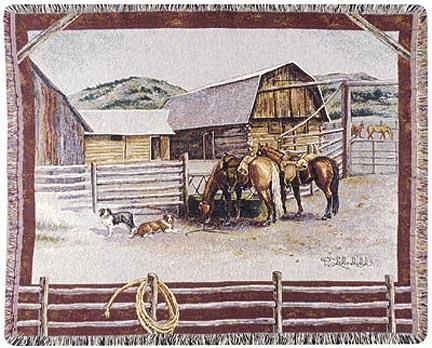 """Ranch Life  by Pat Lehmkuhl 50"""" x 60"""" Tapestry Throw Blanket From Simply Home"""