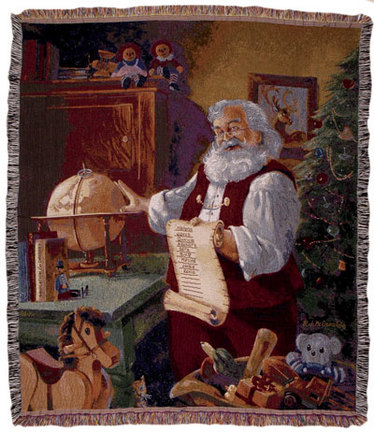 """The List 50"""" x 60"""" Holiday Tapestry Throw Blanket From Simply Home"""