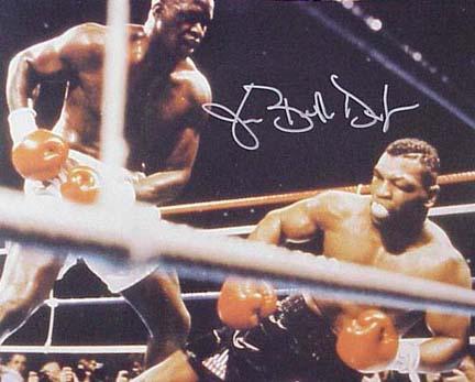 "Buster Douglas Autographed ""KO Tyson"" 16"" x 20"" Photograph (Unframed)"