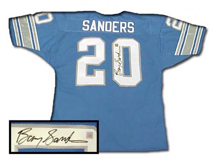 best service d684a f17ed Barry Sanders Apparel and Clothing