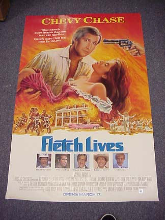 Chevy Chase Autographed Original Fletch Lives Movie Poster