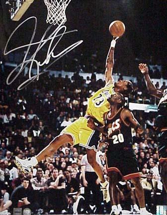 "Dennis Rodman Autographed Los Angeles Lakers (Rebounding vs. Sonics) 16"" x 20"" Photograph (Unframed)"