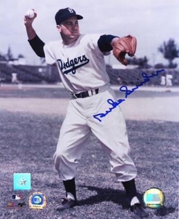"""Duke Snider """"Throwing Ball"""" Autographed 16"""" x 20"""" Photograph (Unframed)"""