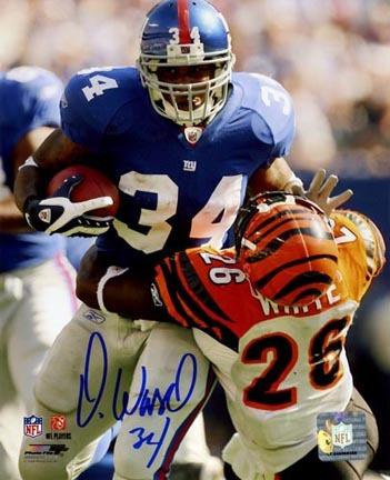 """Derrick Ward New York Giants Autographed 8"""" x 10"""" Photograph (Unframed)"""