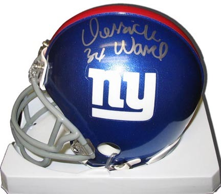 Derrick Ward New York Giants Autographed Riddell Mini Helmet