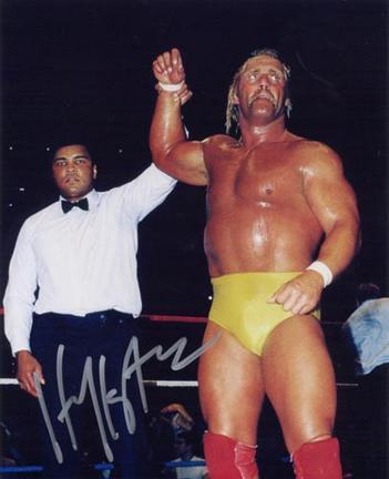 "Hulk Hogan Autographed ""with Muhammad Ali"" 16"" x 20"" Photograph (Unframed)"