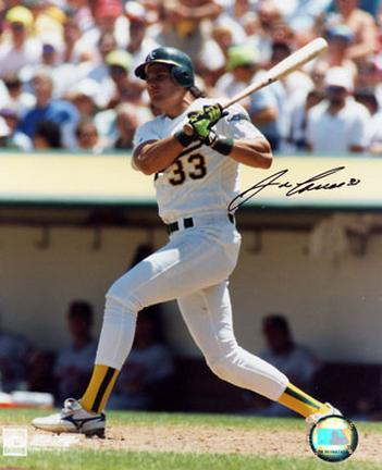 """Jose Canseco Autographed """"Swinging A's"""" 8"""" x 10"""" Photograph (Unframed)"""