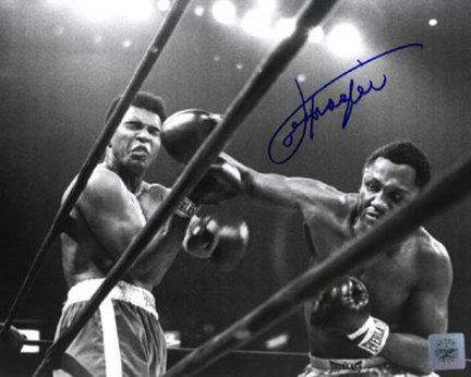 "Joe Frazier Autographed ""Ali/Frazier Right Cross"" 8"" x 10"" Black & White Photograph (Unframed)"