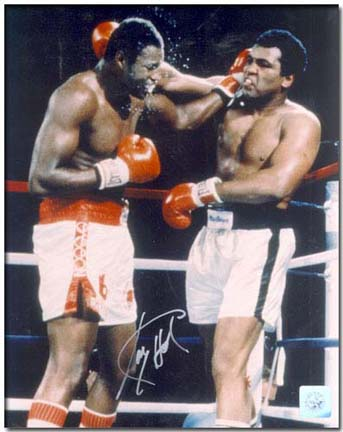 Larry Holmes Autographed Holmes vs. Ali 16 x 20 Color Photograph  Unframed