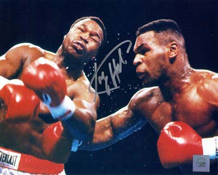 "Larry Holmes Autographed ""vs. Mike Tyson"" 8"" x 10"" Photograph (Unframed)"