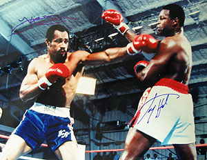 Larry Holmes & Ken Norton Autographed Holmes vs. Norton 16 x 20 Color Photograph   Unframed
