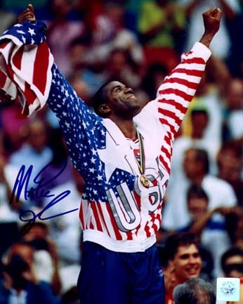 Magic Johnson Autographed 1992 Olympic Pose 16 x 20 Photograph Unframed