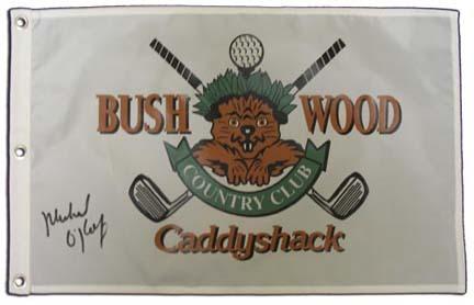 Michael OKeefe Autographed Caddyshack Golf Pin Flag