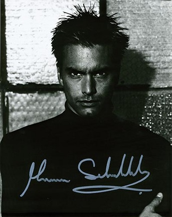 """Marcus Schenkenberg Autographed """"Wall"""" Black and White 8"""" x 10"""" Photograph (Unframed)"""