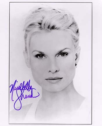 "Nicollette Sheridan Autographed Black and White 8"" x 10"" Photograph (Unframed)"