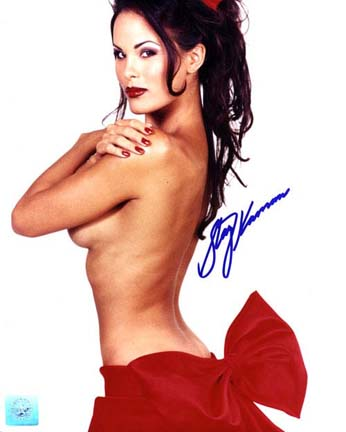 "Stacy Kamano Autographed ""Red Bow"" 8"" x 10"" Color Photograph  (Unframed)"