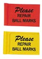 """4 3/4"""" x 7 1/2"""" Nylon Placement Flags for 1/2"""" Flagstick - Set of 9 Flags"""