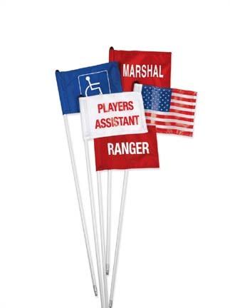 Marshal Cart Identification Flag (Red/White)