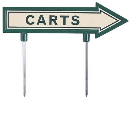 """15"""" """"Carts"""" Directional Arrow (Green / White)"""