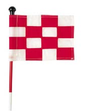 Checkered Practice Green Flags - Set of 9 Flags