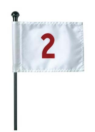 Numbered (1-9) Practice Green Flag Set
