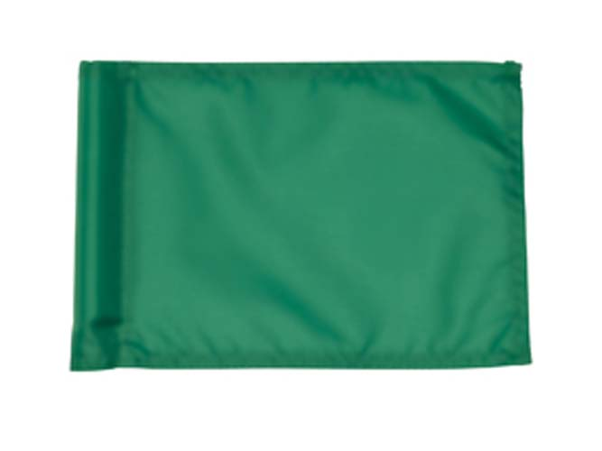 Small Plain Practice Green Flags - Set of 9 Flags