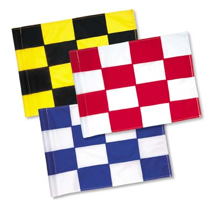 "20"" x 14"" Classic Checkered Nylon Tube-Lock Swivel Flags - Set of 9 Flags"