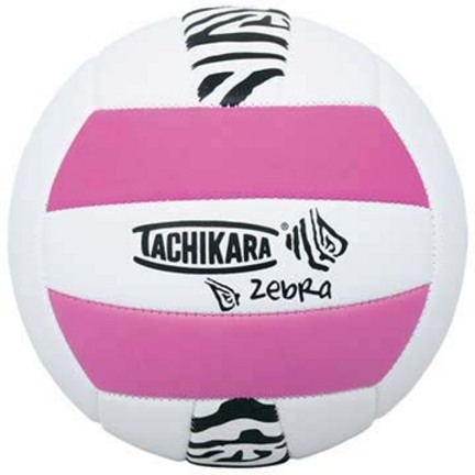 Zebra Sof-Tec™ Volleyball (Pink / White) from Tachikara