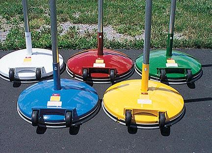 Multi-Use Standard 180 lb. Base, 10' Pole and 2 Ring Slides