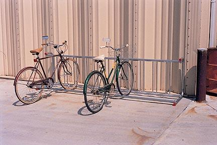 10' Long Single Sided Wall Mount Bike Rack (Holds 11 Bikes)