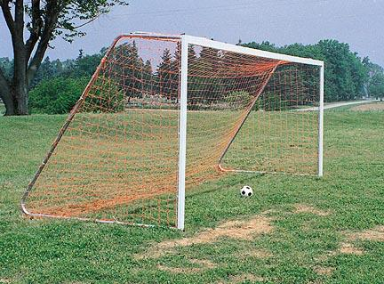 "24'W x 8'H Portable Soccer Goal - 4"" x 2"" Unpainted Steel (One Pair)"