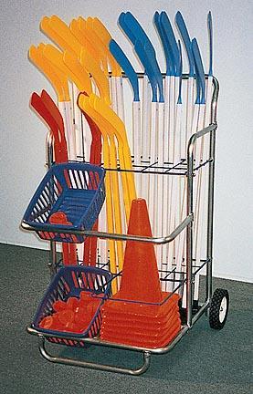 "47""H x 31""W Hockey Equipment Cart"