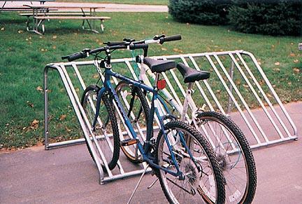 """29""""H x 3'W x 7'L Economy Bike Rack"""